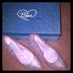 Rose gold ab swarovski stone heels
